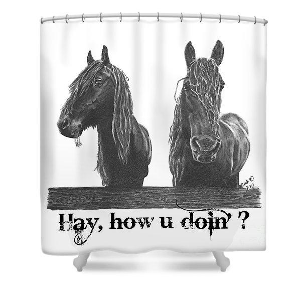 Hay How U Doin Shower Curtain