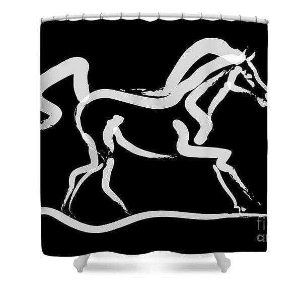 Horse-runner Shower Curtain