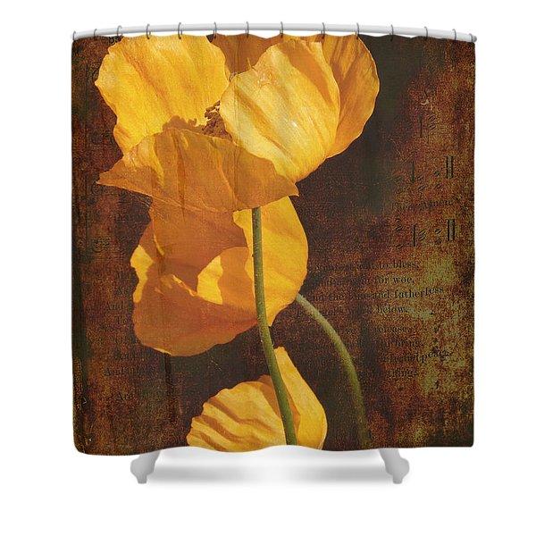 Icelandic Poppy Shower Curtain