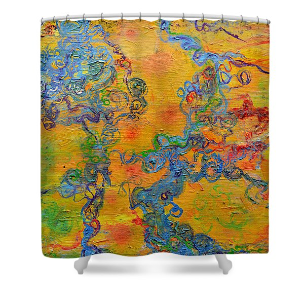 Ion Channel Shower Curtain