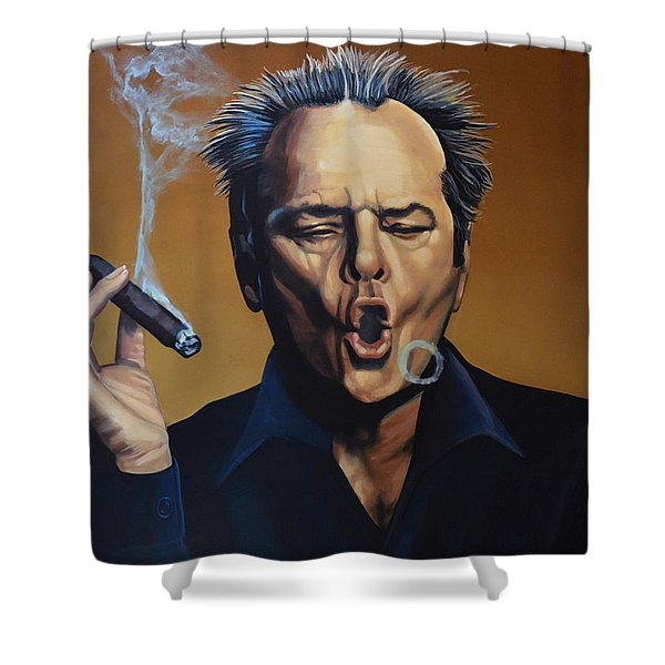 Jack Nicholson Painting Shower Curtain