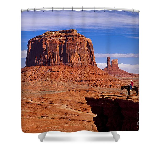 Shower Curtain featuring the photograph John Ford Point Monument Valley by Brian Jannsen