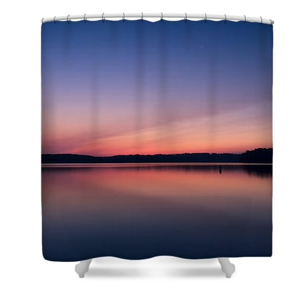 Lake Lanier After Sunset Shower Curtain
