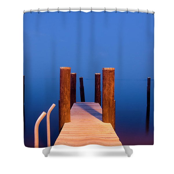 Leading Into The Big Blue Shower Curtain