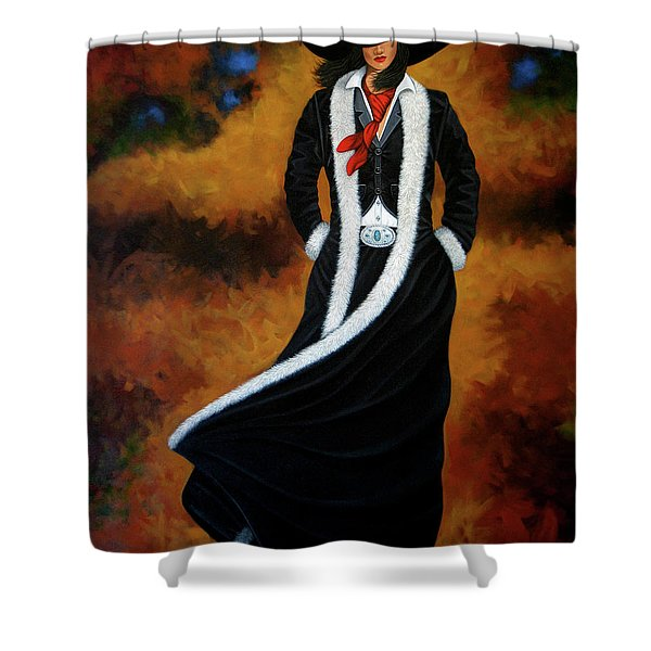 Leather And Fur Shower Curtain