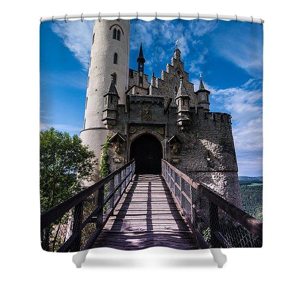 Lichtenstein Castle - Baden-wurttemberg - Germany Shower Curtain