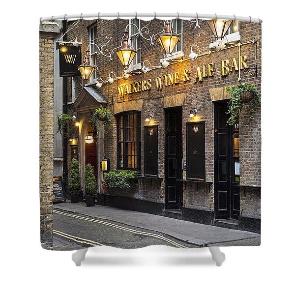 Shower Curtain featuring the photograph London Pub by Brian Jannsen
