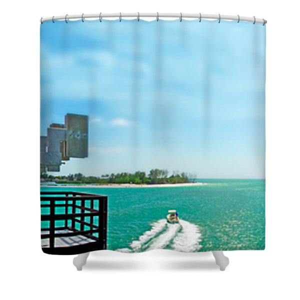Longboat Pass Drawbridge Shower Curtain