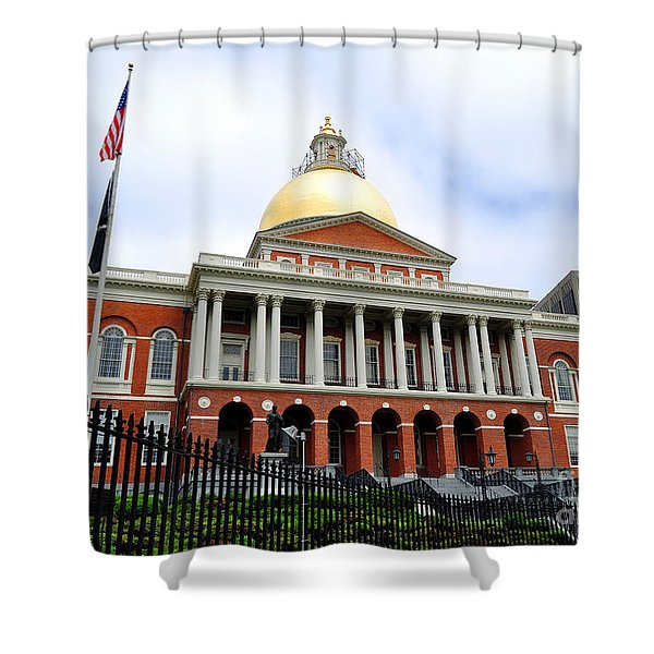 Massachusetts State House Boston Ma Shower Curtain