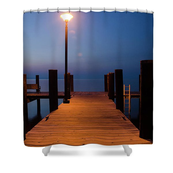Morning On The Dock Shower Curtain