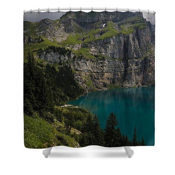 Oeschinensee - Swiss Alps - Switzerland Shower Curtain