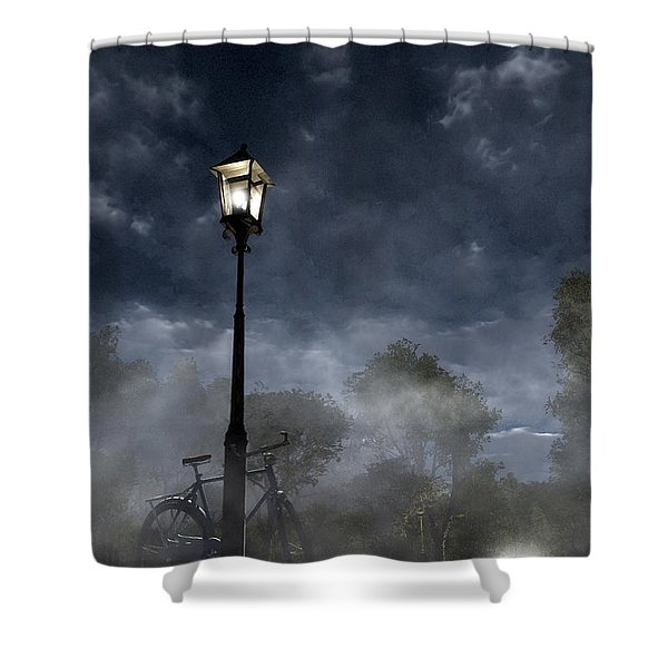 Ominous Avenue Shower Curtain
