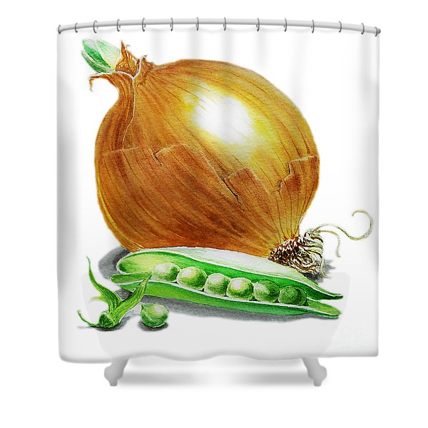 Onion And Peas Shower Curtain