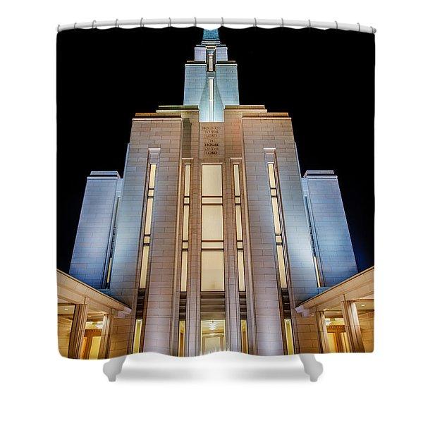Oquirrh Mountain Temple 1 Shower Curtain