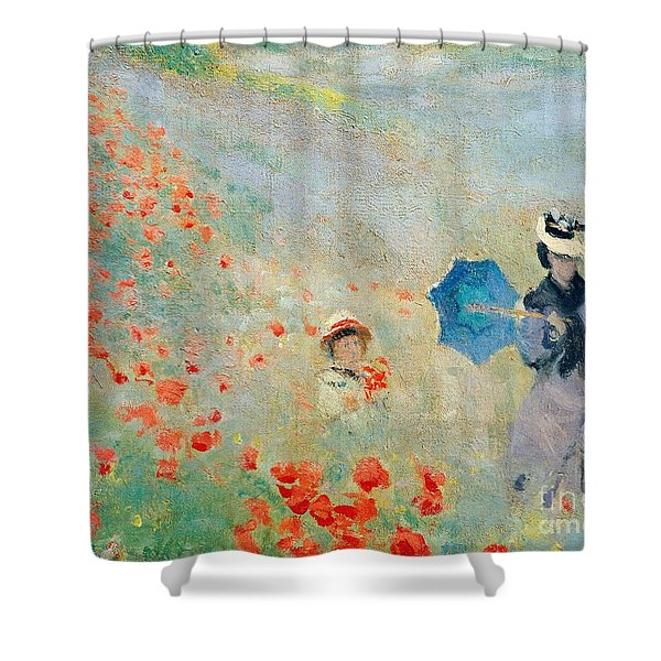 Poppies At Argenteuil Shower Curtain