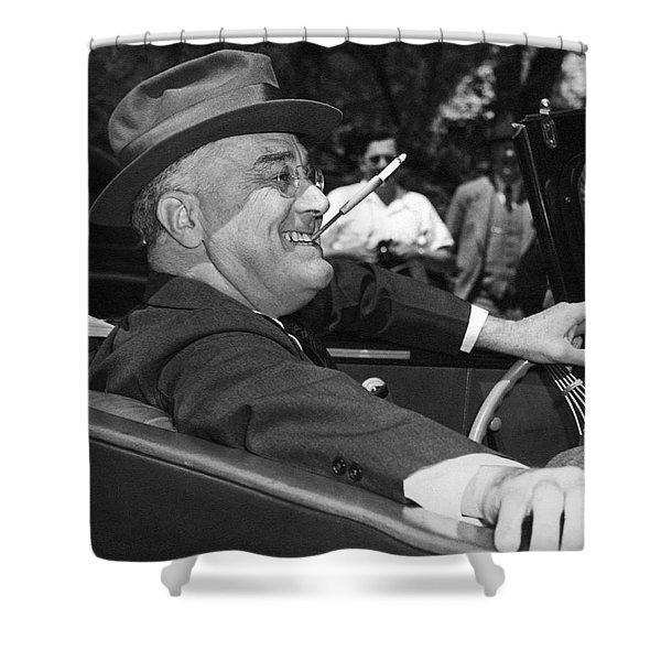President Franklin Roosevelt Shower Curtain