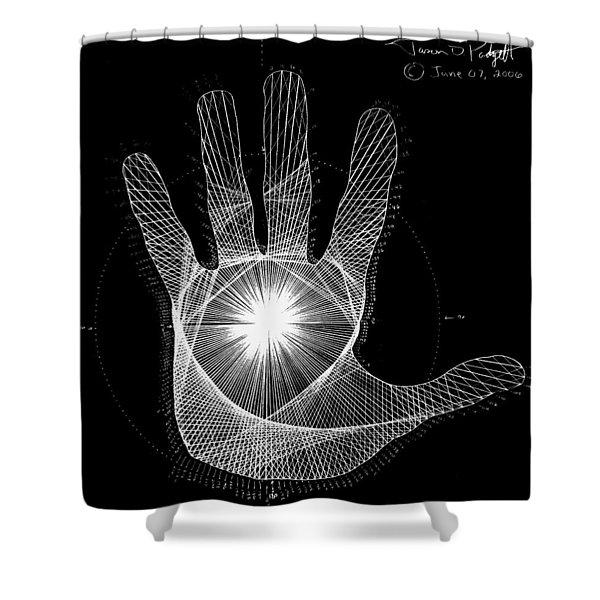 Quantum Hand Through My Eyes Shower Curtain