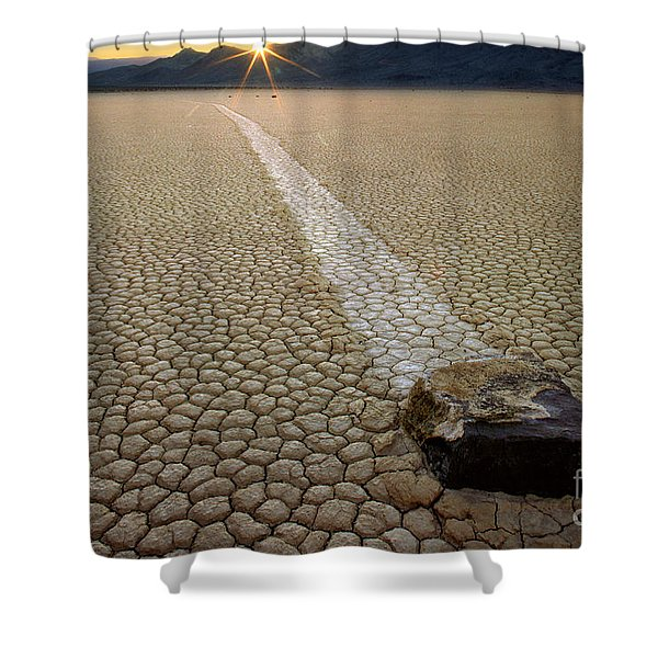 Racing Rock Shower Curtain