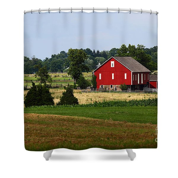 Red Barn Gettysburg Shower Curtain