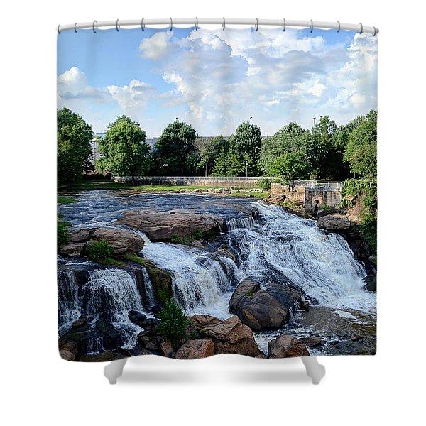 Reedy River Falls Shower Curtain