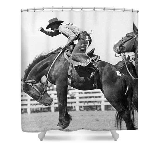 Riding A Bucking Bronco Shower Curtain