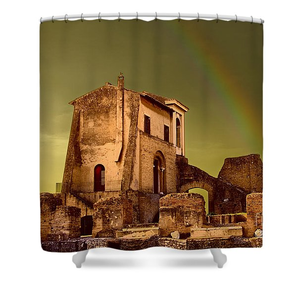 Ruin At Palatine Hill Shower Curtain