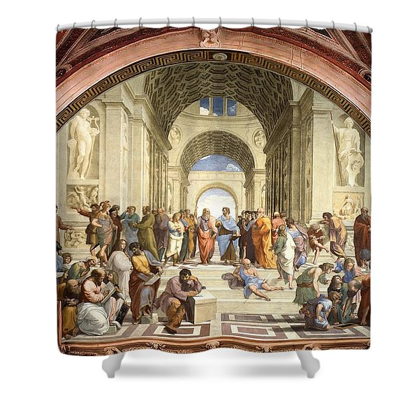 School Of Athens Shower Curtain