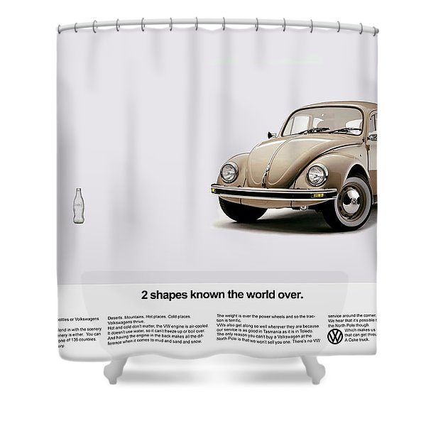 2 Shapes Known The World Over Shower Curtain