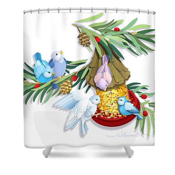 Snacks For All Shower Curtain