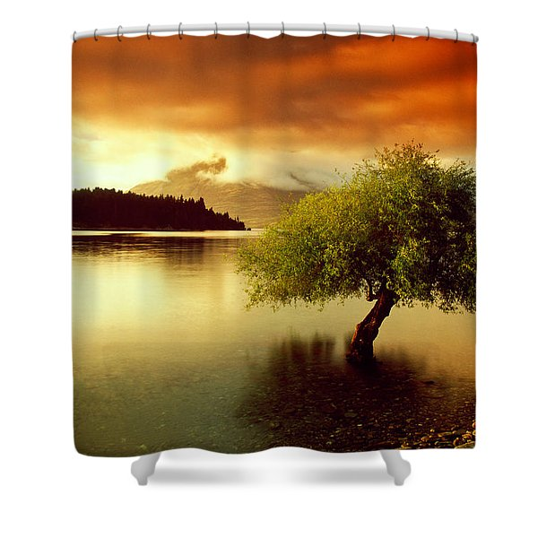 South Island New Zealand Shower Curtain