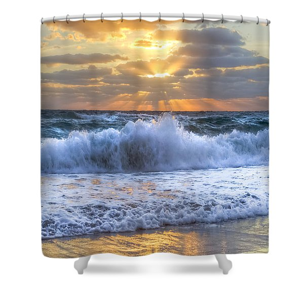 Splash Sunrise Shower Curtain