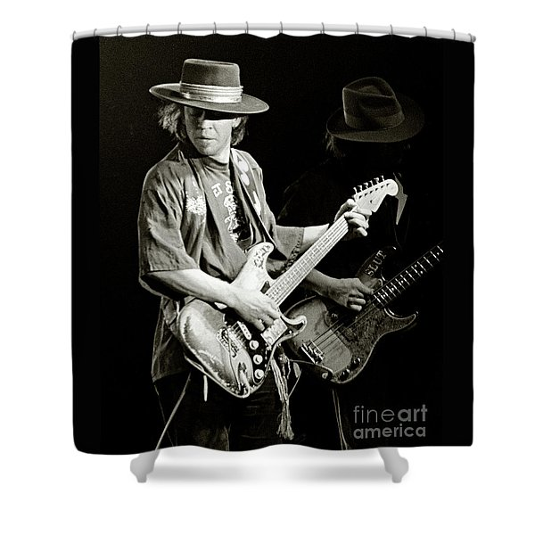 Stevie Ray Vaughan 1984 Shower Curtain