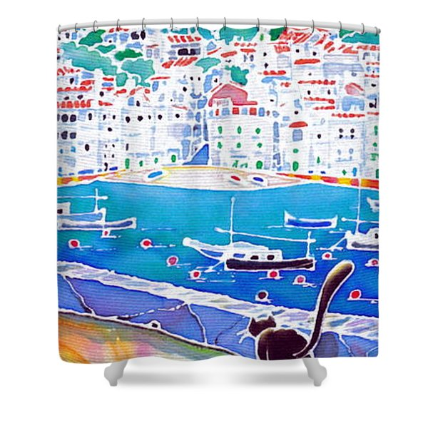 Sunset In Costa Brava Shower Curtain