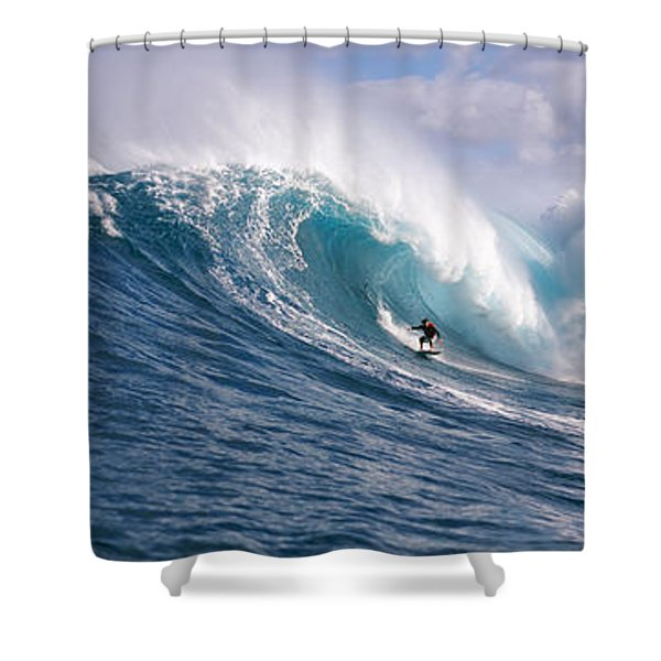 Surfer In The Sea, Maui, Hawaii, Usa Shower Curtain