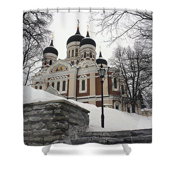 Tallinn Estonia Shower Curtain