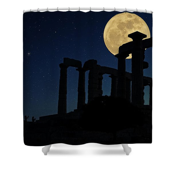 Temple Of Poseidon  Shower Curtain