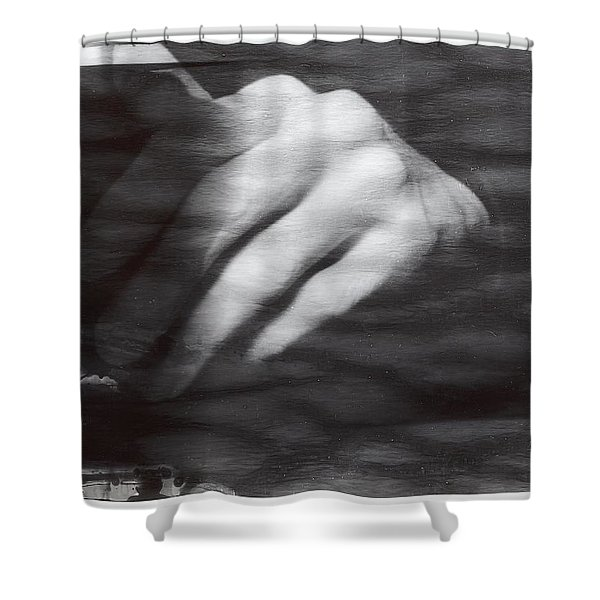 Shower Curtain featuring the photograph The Artists Hand by Karin Thue