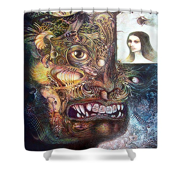 The Beast Of Babylon Shower Curtain