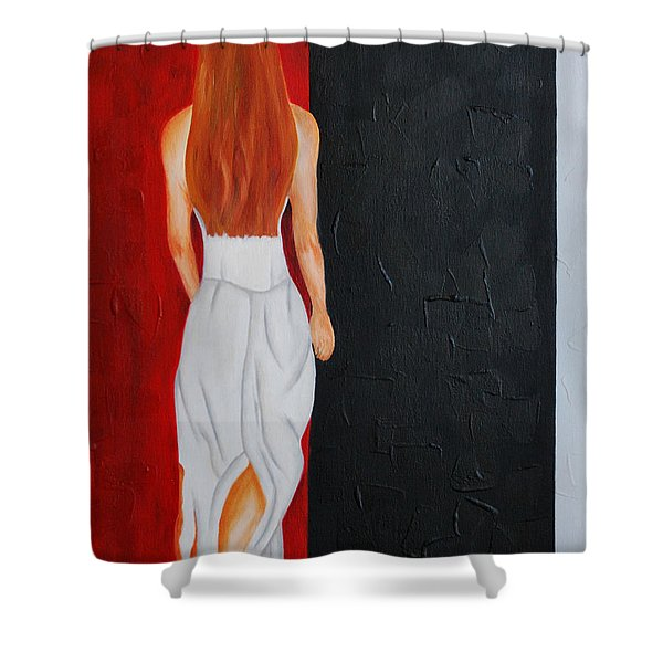 The Mystery Woman Shower Curtain