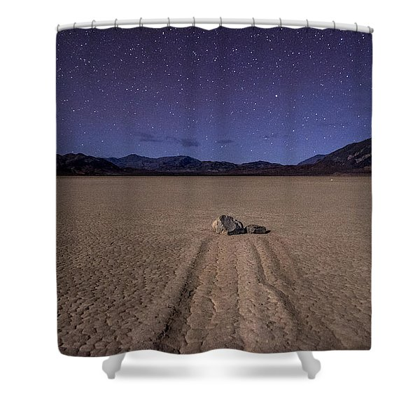 The Racetrack Shower Curtain