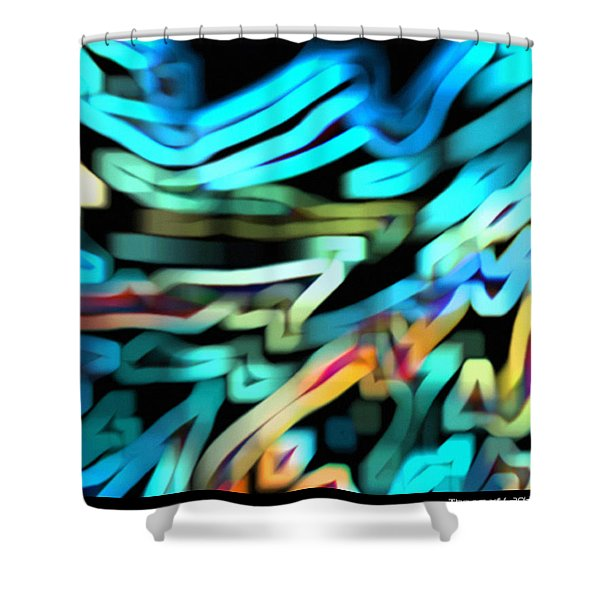 Shower Curtain featuring the digital art The Scarf by Mihaela Stancu