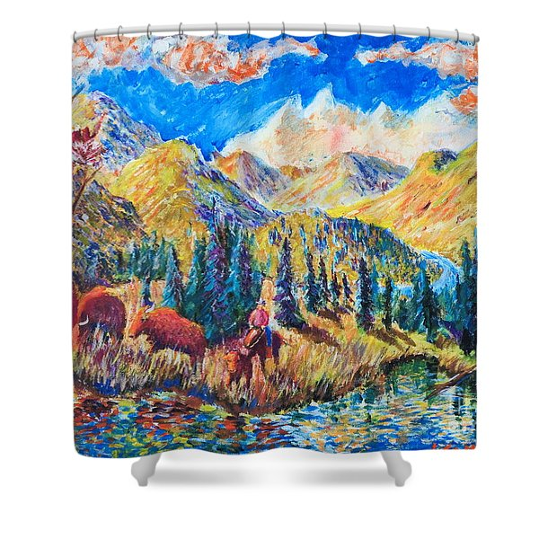 The Stray  Shower Curtain