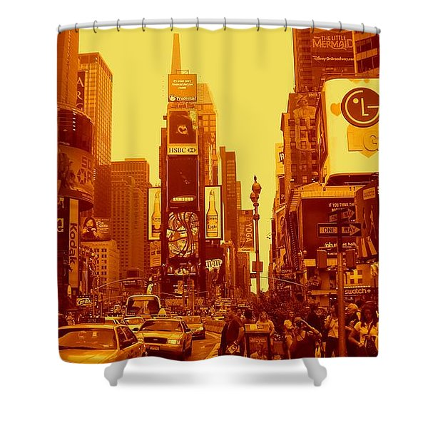 42nd Street And Times Square Manhattan Shower Curtain
