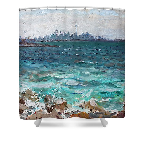Toronto Skyline Shower Curtain