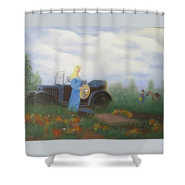 Waiting For A Picnic Shower Curtain