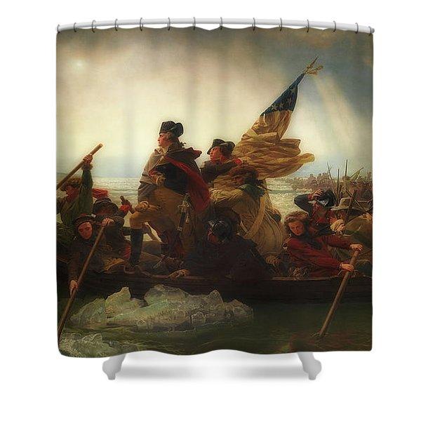 Washington Crossing The Delaware  Shower Curtain
