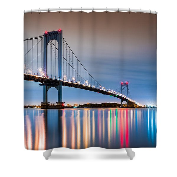 Whitestone Bridge Shower Curtain