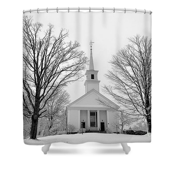 Winter Snow Scene Shower Curtain
