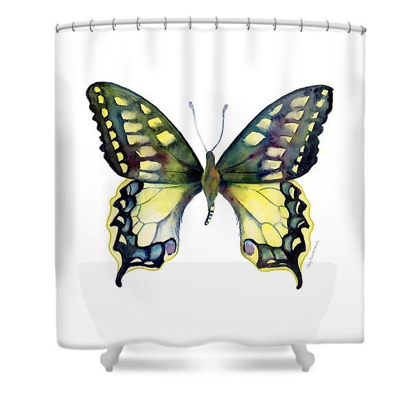 20 Old World Swallowtail Butterfly Shower Curtain
