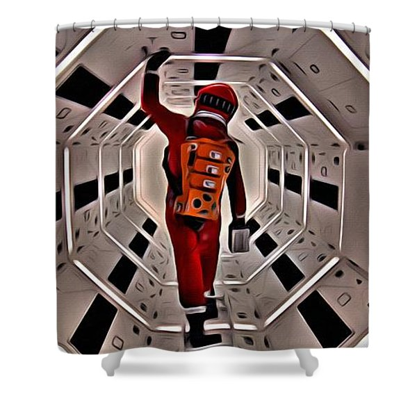 2001 A Space Odyssey Shower Curtain
